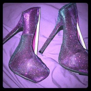 Shoes - Iridescent Purple Heels